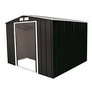 8x8ft Sapphire Apex Metal Shed Anthracite