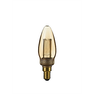 TCP LED Vintage Candle 9WEQ E14 Classic Light Bulb