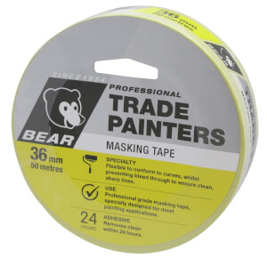 Bear 36mm x 50m Trade Painters Masking Tape