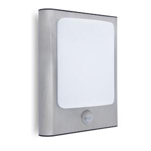 Lutec Face 13W LED PIR Wall Light - Silver