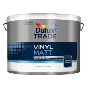 Dulux Trade Vinyl Pure Brilliant White - Matt Emulsion Paint - 10L