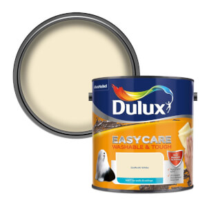 Dulux Easycare Washable & Tough Daffodil White Matt Paint - 2.5L