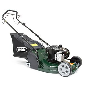 Webb Rr17Sp Supreme Rear Roller Self Propelled Petrol Lawnmower 43cm