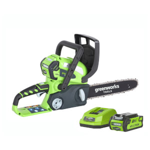 Greenworks 40V Chainsaw with 2Ah Battery