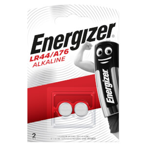 Energizer LR44 Alkaline Button Batteries - 2 Pack