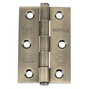 CE7 Button Tip Butt Hinge - Antique Brass - 75 x 49mm - 2 Pack