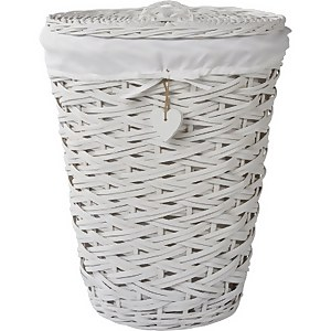 Willow Laundry Basket - White