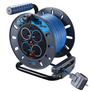 Masterplug Pro XT 4 Socket Cable Reel 25m Blue