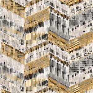 Arthouse Chevron Weave Geometric Embossed Glitter Ochre Wallpaper