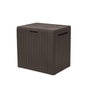 Keter City Garden Plastic Storage Box - 113L - Brown
