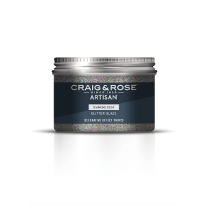 Craig & Rose Artisan Glitter Glaze Paint - Diamond Dust - 300ml