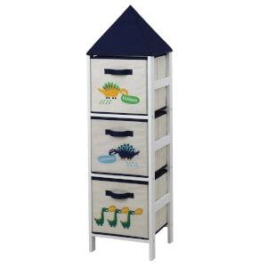 Kids Storage Tower - Dinosaurs