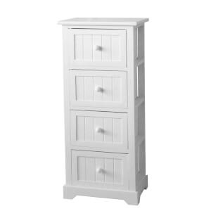 White Classic 4 Drawer Storage Unit