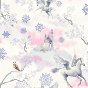 Arthouse Fairytale Unicorn Kids Smooth Glitter Lilac Wallpaper