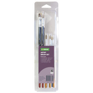 10 Piece Artist Brush Set