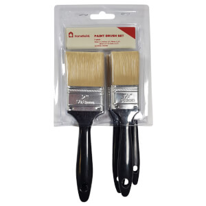 Set of 5 HomeBuild Paint Brushes - 13/25/38/2x50mm
