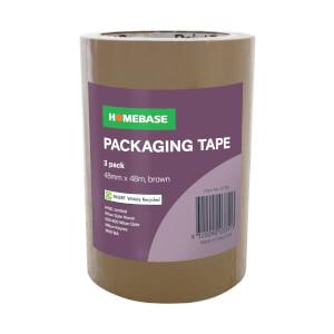 Homebase Packaging Tape 3 pack - Brown