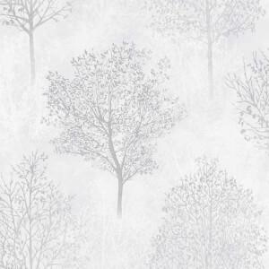 Arthouse Wonderland Mono Tree Textured Glitter Grey Wallpaper