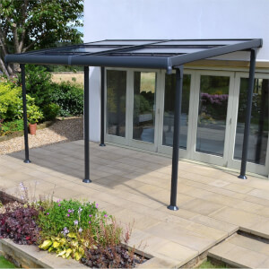 Creador Aluminium 4 x 3 Wall Gazebo with Retractable Roof