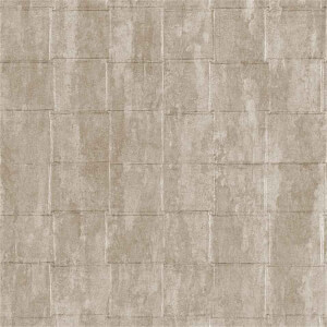 Belgravia Decor Coca Cola Tile Embossed Metallic Taupe Wallpaper