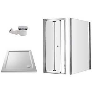 Balterley Bi-Fold Shower Enclosure Package - 760mm