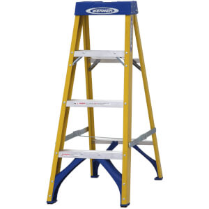 Werner Fibreglass Step Ladder - 4 Tread