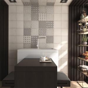 Bulevar Grey Decor 20 x 20cm Wall & Floor Tile