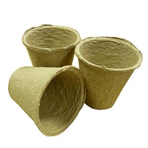 Round Fibre Pots 20x6cm 1 Row