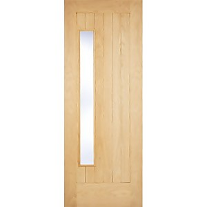 Newbury External Glazed Unfinished Oak 1 Lite Part L Compliant Door - 838 x 1981mm