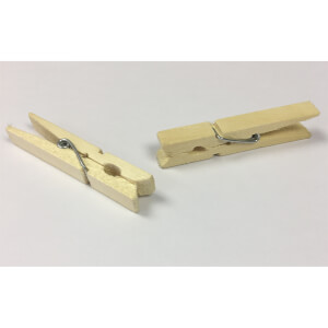 Dry Natural 36 Wooden Pegs