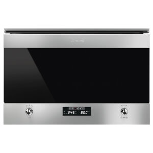 Smeg MP322X1 Classic Stainless Steel and Eclipse Glass Microwave Oven with Grill