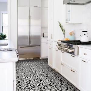 FloorPops Peel and Stick Self Adhesive Floor Tiles - Gothic