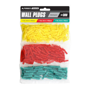 Pinnacle Assorted Wall Plugs - 300pcs