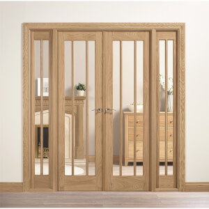 Lincoln Internal Glazed Unfinished Oak Room Divider - 1904 x 2031mm