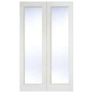 Pattern 20 Internal Glazed Primed White 1 Lite Pair Doors - 1524 x 1981mm