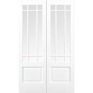 Downham Internal Glazed Primed White 9 Lite Pair Doors - 1067 x 1981mm