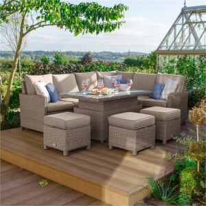 Nova Belmont Rising Casual Rattan Dining Right in Natural