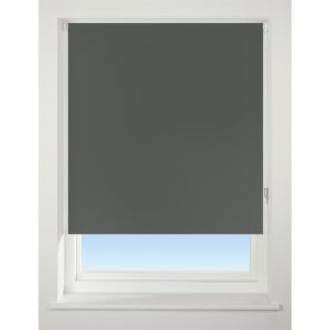Dark Grey Blackout Roller Blind - 60cm