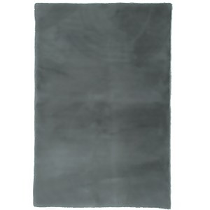 Luxe Faux Fur Rug - Grey - 80x120cm