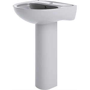 Balterley Ridley 1 Tap Hole Basin and Full Pedestal - 550mm