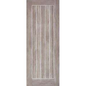 Mexicano Internal Light Grey Laminate 5 Panel Door - 838 x 1981mm