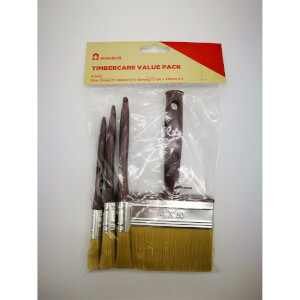 HomeBuild Timbercare Value Brush 4 Pack