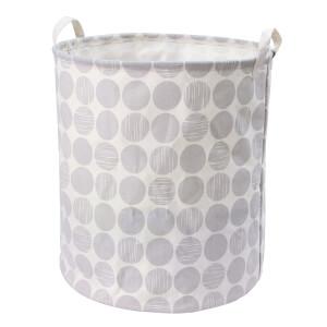 Canvas Storage Hamper - Light Grey