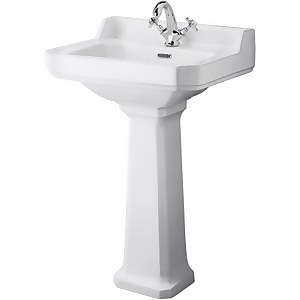 Balterley Harrington 1 Tap Hole Basin and Pedestal - 560mm