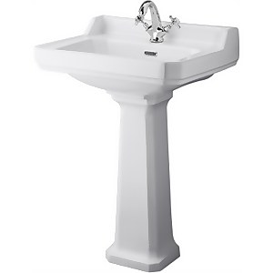 Balterley Harrington Comfort Height 1 Tap Hole Basin Pedestal - 600mm