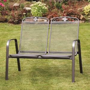 Royal Garden Savoy Metal Bench & Green Cushion