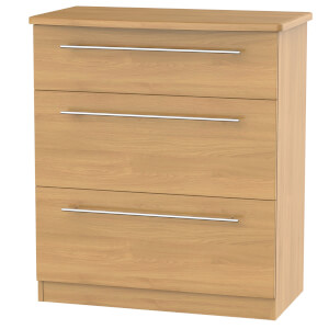 Siena Modern Oak 3 Drawer Deep Chest