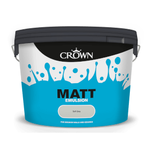 Crown Matt Emulsion - Soft Grey - 10L