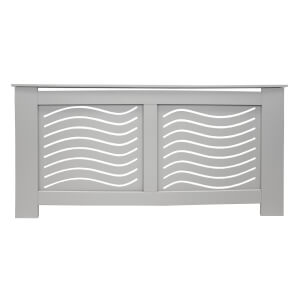 Wave Grey Radiator Cover - Extra Large