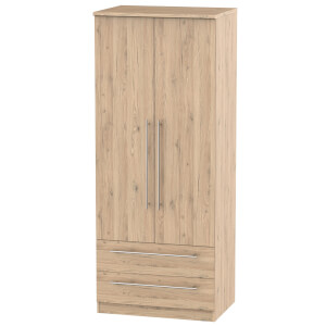 Siena Bordeaux Oak 2 Drawer Wardrobe
